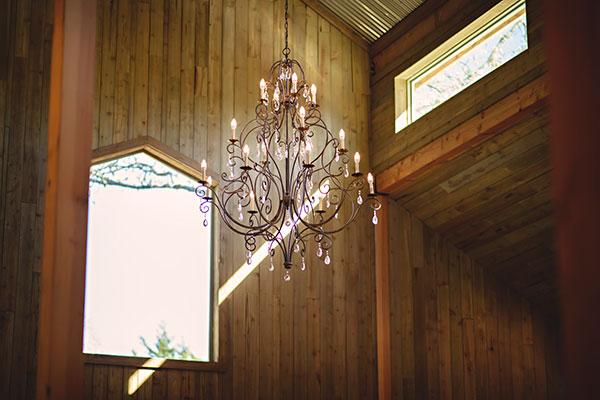 Image of chandelier - Whispering Oaks Wedding Venue
