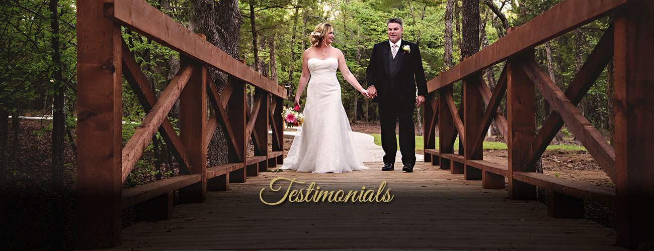 Image of bride and groom holding hands - Whispering Oaks Wedding Venue